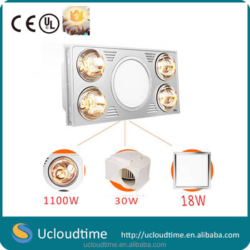Ceiling Mounted Infrared Lamp Bathroom Heater Ptc Heater With Led ...
