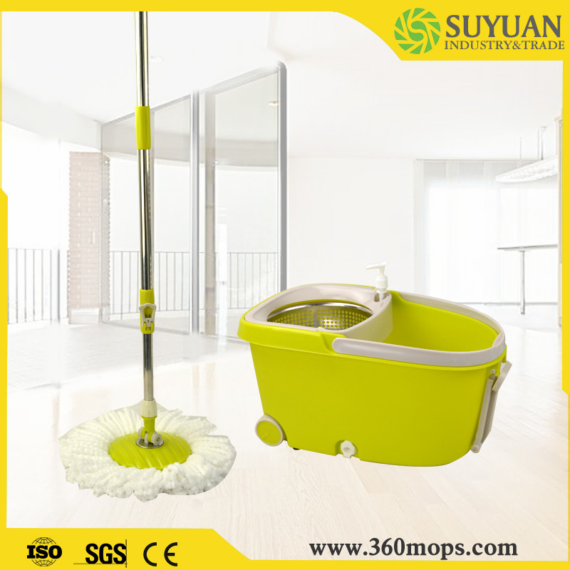 Serviceable wireless electric spin mop
