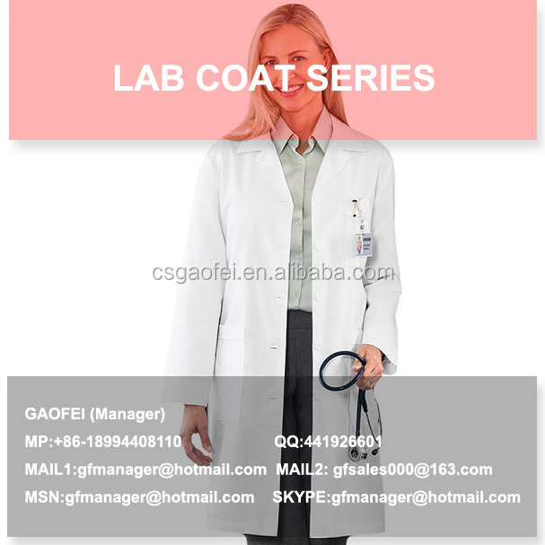 2015 hot sell kids lab coats cheap for lab using