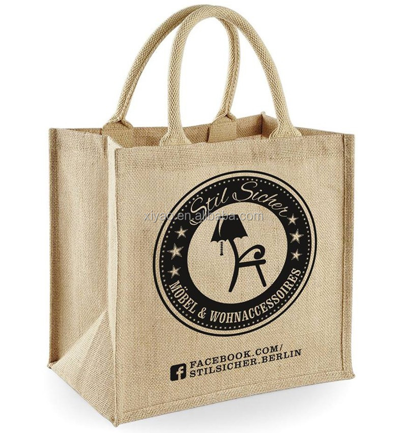 Promotional Natural Jute Bag Whole With Own Logo