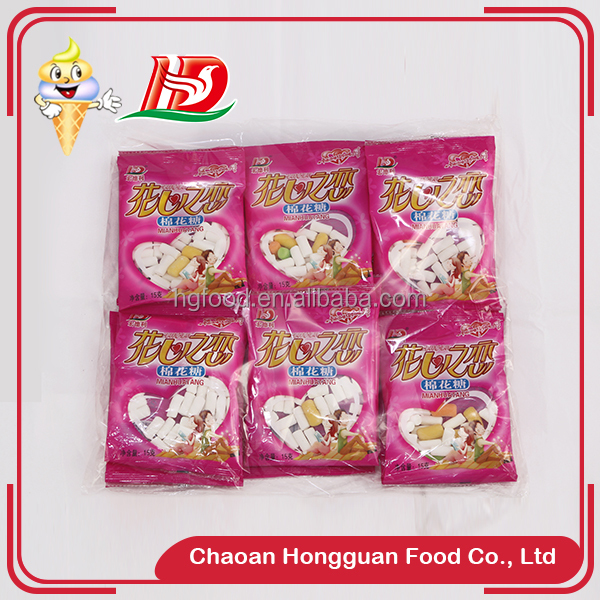 Child candy wholesale fruity crispy sweet cheap marshmallow candy