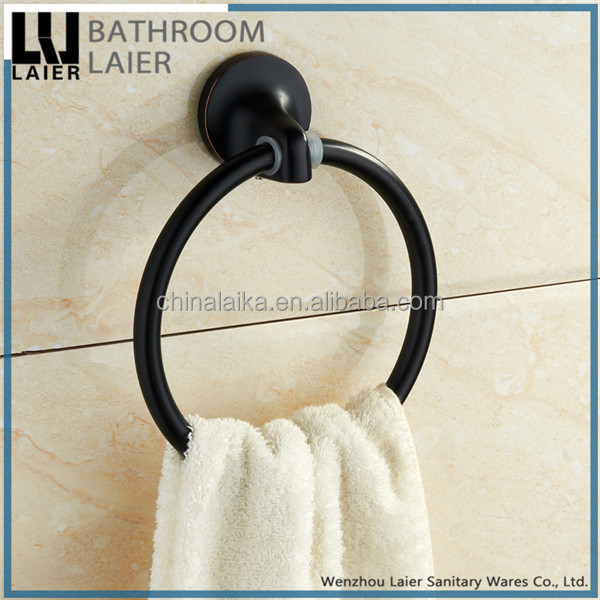 Contemporary Zinc Alloy ORB Finishing Bathroom Accessories Wall- Mounted Towel Ring