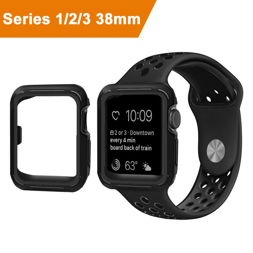 Buy Spigen Apple Watch Case Rugged Armor 38mm In Cheap Price On Tough 2 For 42mm Series 3 Black Cool Sky 38mmshock Proof And Shatter Resistant