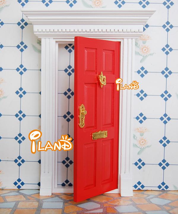 Small fairy door mini doors dollhouse door wood painted for Wooden fairy doors that open