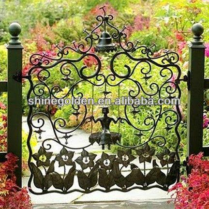 Antique Wrought Iron Garden Entry Gate