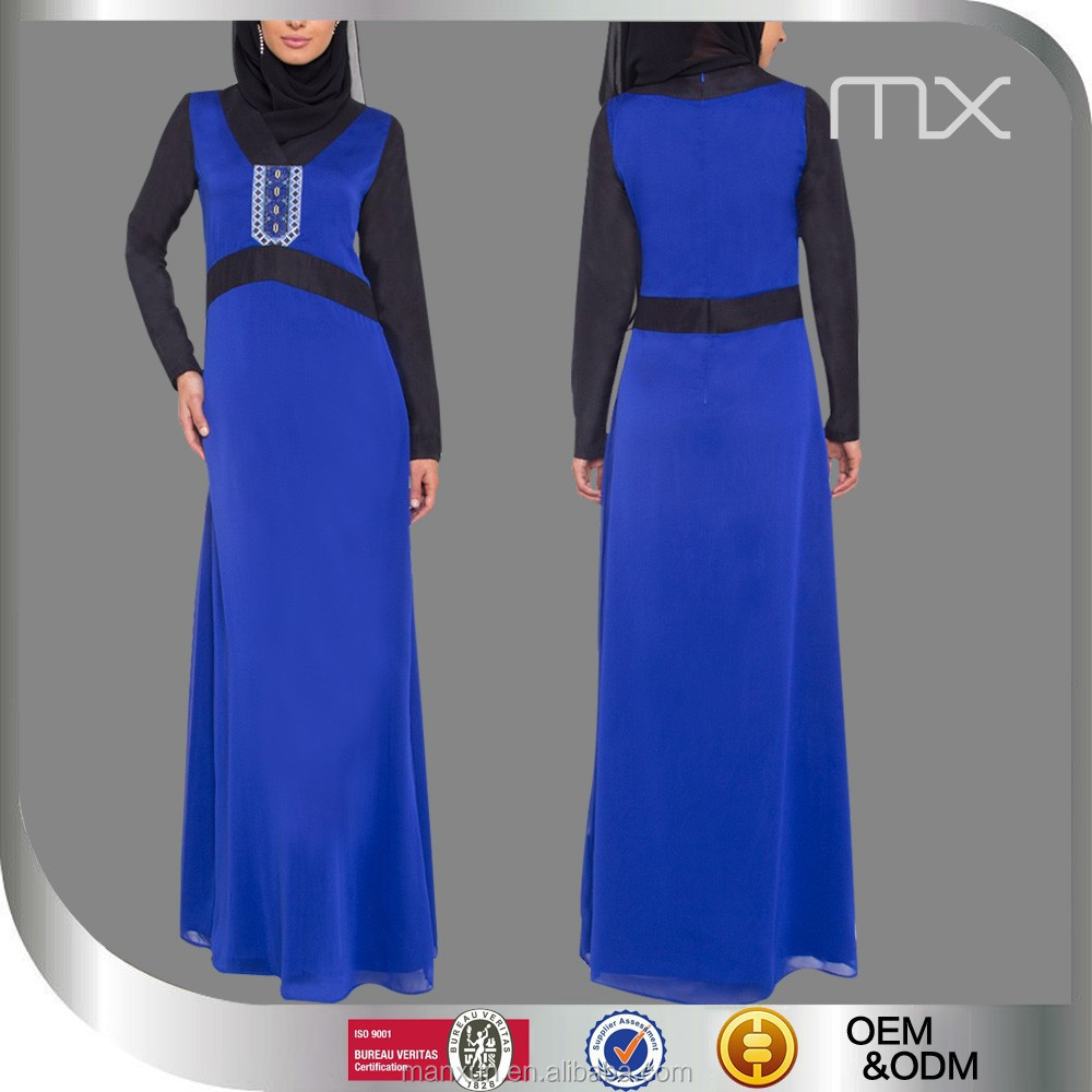 Exclusive royal blue dresses classy egyptian women clothing latest abaya designs 2018 model baju kurung modern kyle and janen