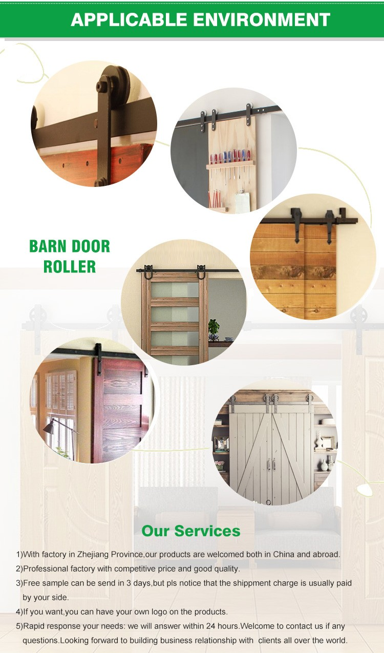 Wholesale Flat Track Bypass Sliding Barn Door System for Double Doors sale
