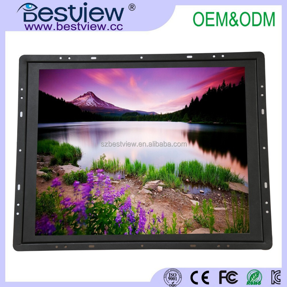 Open frame <strong>monitor</strong> 19 inch industrial <strong>monitor</strong> with VGA HDMI