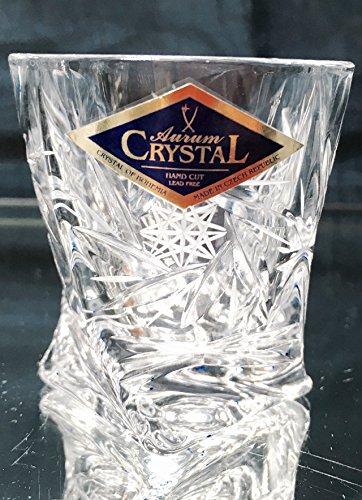 BOHEMIA CRYSTAL SHOT GLASSES 2oz. SET OF 6 HAND CUT CRYSTAL GLASS SHOTS for VODKA WHISKEY CORDIAL LIQUEUR SHERRY BRANDY COGNAC ELEGANT VINTAGE EUROPEAN DESIGN CLASSIC CZECH CRYSTAL GLASS