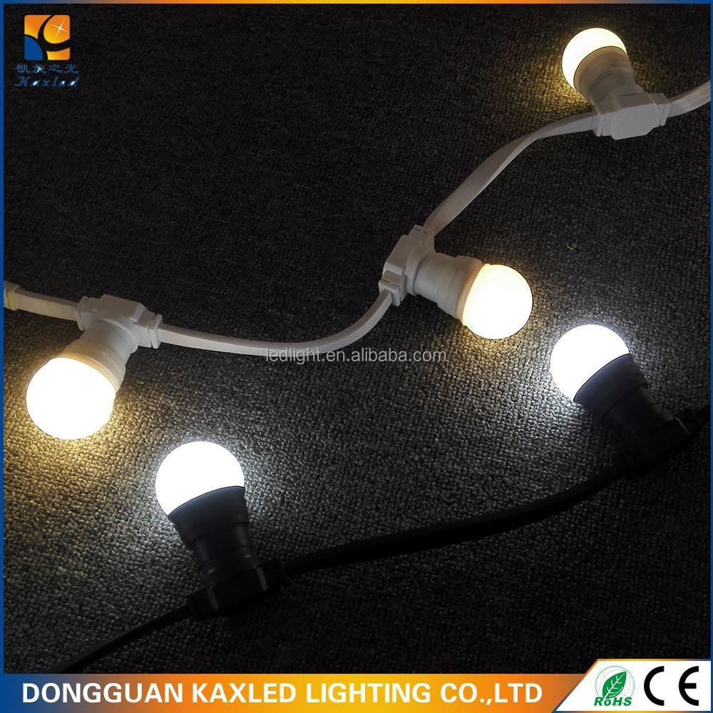 connectabIe P65 E27 B22 scokets LED belt festoon LED light string with G45 G50 Bulbs for holiday Christmas decoration