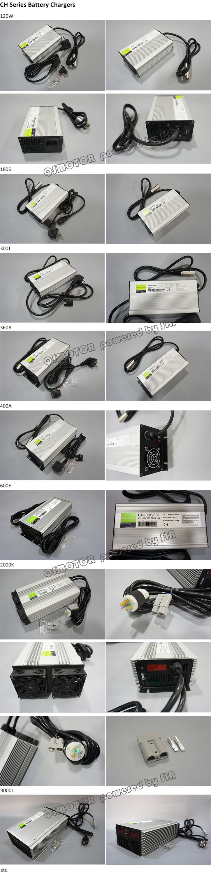 CH Series Electric Bike Scooter Motorcycle Car EV Battery Charger