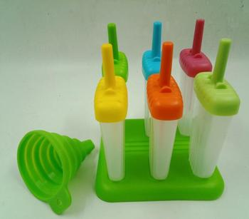 6 Pieces Popsicle Molds Ice Pop Maker BPA Free