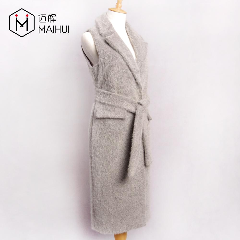 कश्मीरी लंबे बनियान महिलाओं शरद ऋतु बिना आस्तीन ऊन खाई कोट