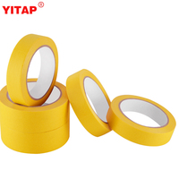 Proprietary Rubber-based Flexible Crepe-paper Backing 18mmx20m Small Yellow Automotive Masking Tape