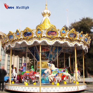 Modern high quality amusement rides used merry go rounds carousel horses for sale
