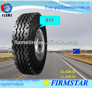 Truck and Bus(TBR)tire/tyre 10.00R20 11.00R20 PriceDown Steer axle STEEL RADIAL FIRMSTAR 617