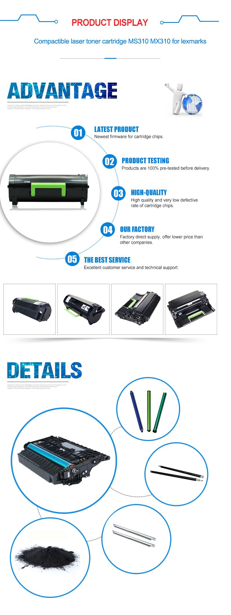 Cartuccia di Toner a colori CLT-404S per Samsung C430W/430/432 W/433 W/433/480FN/ 480FW/C480/C480W/482/482FW/482 W/483/483 W/483FW