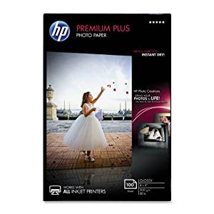 HP Premium Plus Photo Paper, Glossy, 4x6, 100 Sheets (CR668A) by HP
