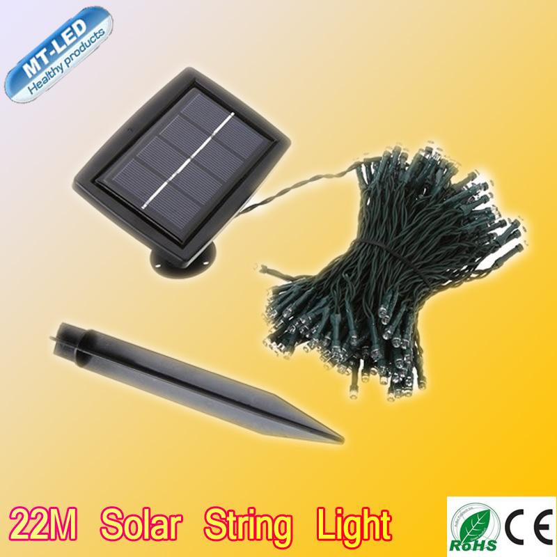 Retail 22M Solar Led String Light RGB Single Color 200led Decoration Light For