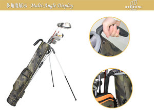 2016 Helix Nylon Material golf staff bag with stands/ Junior golf gun bag / kids golf bag
