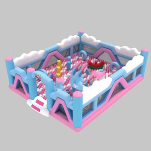 Guangzhou OHO used indoor playground inflatable fun city for rental