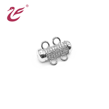 도매 custom 925 sterling silver custom 보석 clasp 대 한 necklace sterling silver 랍스터 clasp 와 <span class=keywords><strong>가죽</strong></span> string