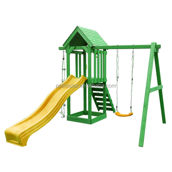 Outdoor Wooden Climbing Frame Playhous Swings - Buy Wooden Climbing ...
