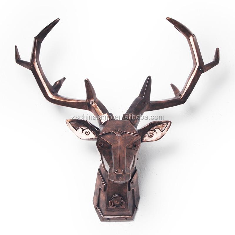 Grossiste Meuble Deco #15: Antique Personnalisé Résine Bois De Cerf Décor Mûr Avec Noir Animale Décor  à La Maison Intérieur