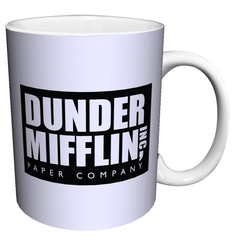 Popular Design Custom Office Cup - Dunder Mifflin (The Office) World's Best Boss TV Television Show - 11 Ounce Ceramic White Coffee/Tea Cup