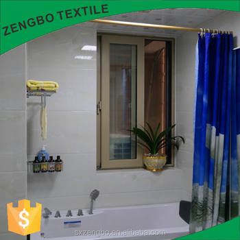Elegant Fabric Shower Curtain Water Repellent Flexible Shower Curtains