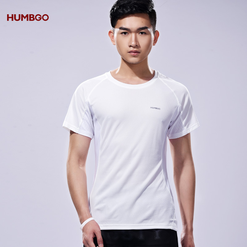 2018 Men Running Training Sports Tight Fit White T-shirt <strong>Manufacturing</strong>