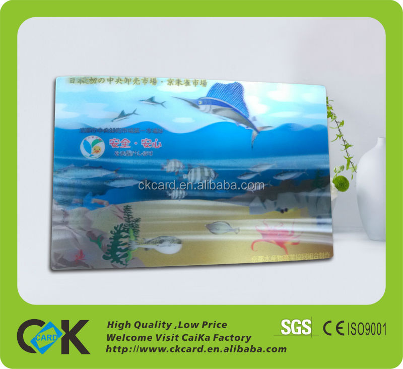 Factory price external 3d PVC card from China maker