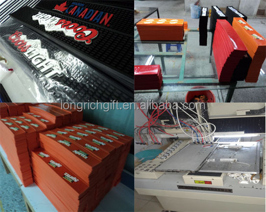 co-friendly non-woven fabric rubber bar counter mat