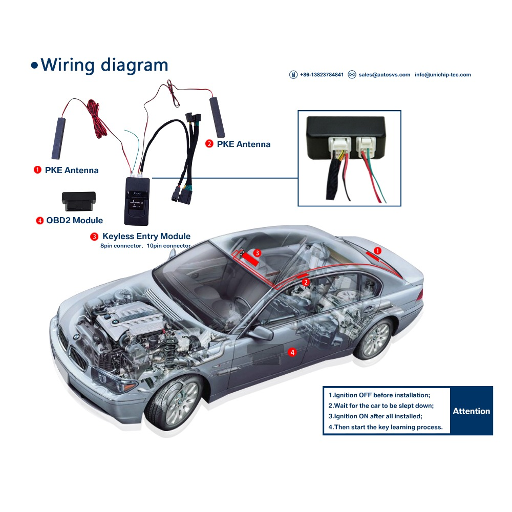 Pke Car Alarm System For B M W 2002 Gmc Envoy Keyless Entry Remote Unichip Wiring Diagram Buy Systempke System2002
