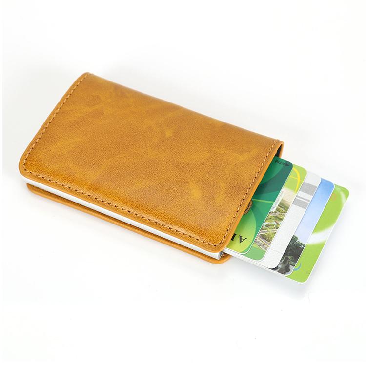Gros RFID Pop Up Aluminium Mulit Couleur Daffaires Titulaire De La Carte Credit