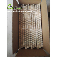 Natural White Stone Travertine Mosaic Tile for Kitchen and bathroom