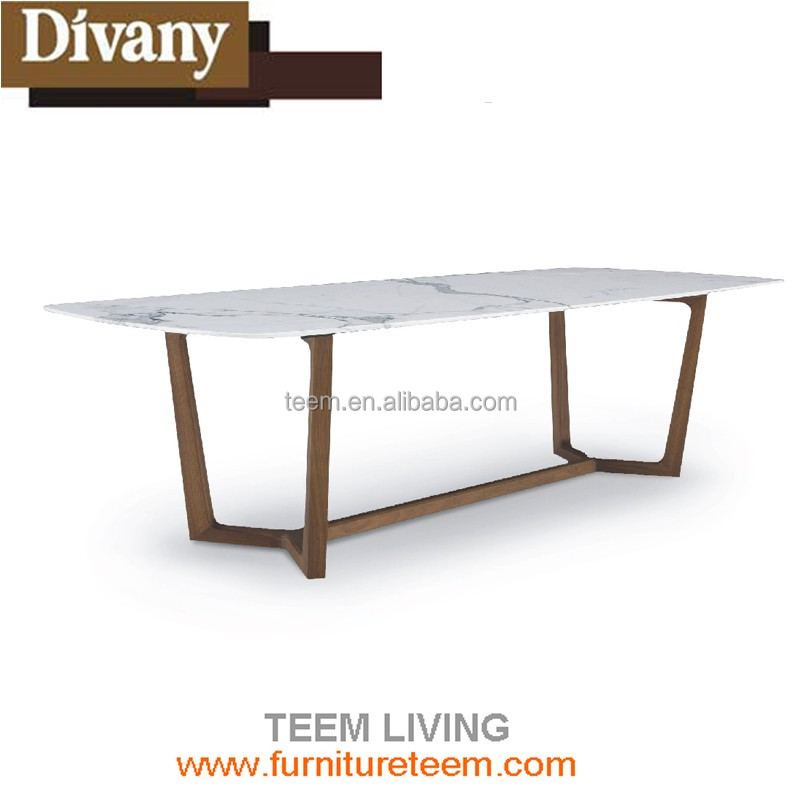 U HOME french style marble top dining table/reclaimed wood dining table/large dining tables E-31