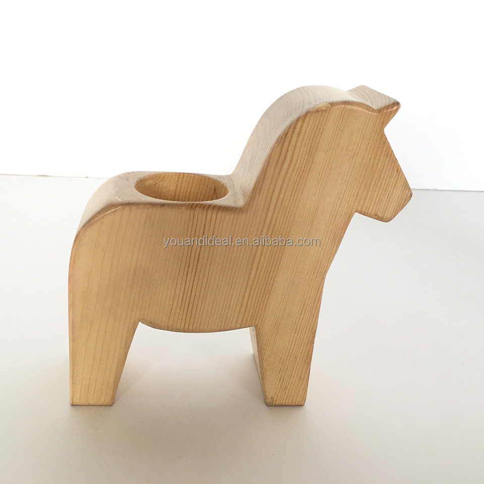 Wholesale mini style wooden carving horse crafts
