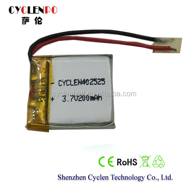 Lipo battery cell, 3.7V 200mah battery lipo, high quality li-ion battery