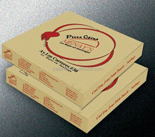 Customized Colored Kraft Corrugated Top Shipping Postal Pizza Box for Food