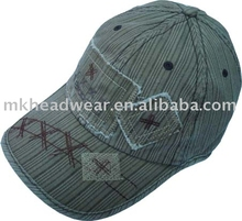 Cotton Sports cap with applique and embroidery logo for young group