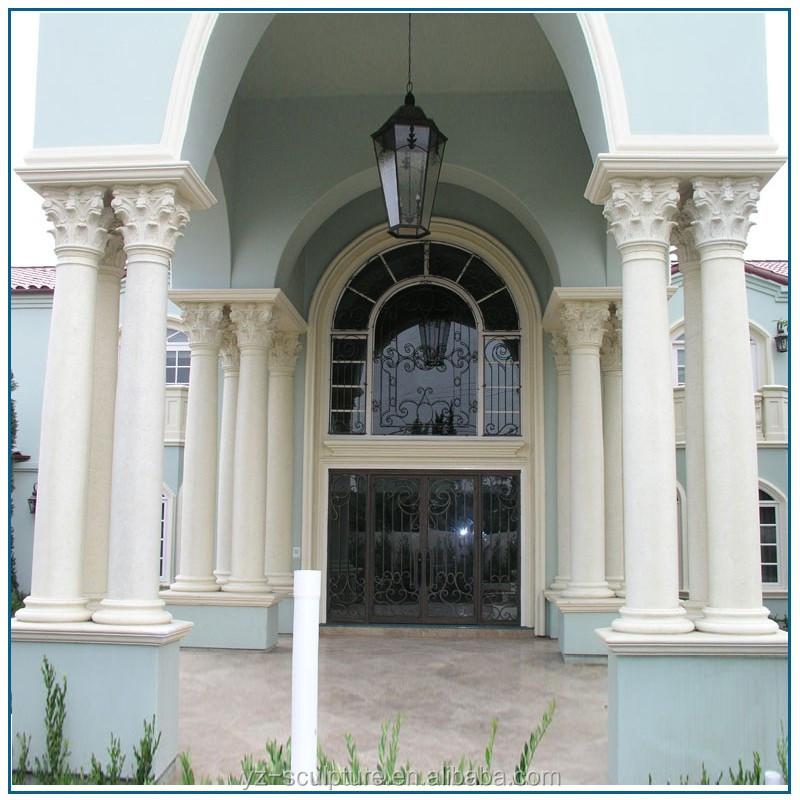 Building A House On Pillars : Decorative roman marble building house design pillar for