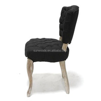 High quality wooden round stool luxury dining rustic wooden chair