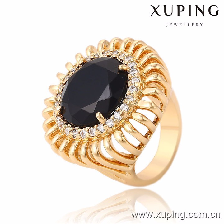 13714 Xuping newest style crystal bishop rings with 18k gold