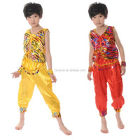 Supply Wholesale India Boys dance costumes yellow and red color