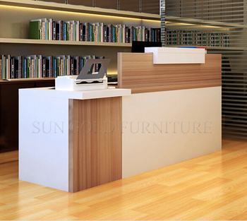 Simple Modern Front Desk Counter Office Reception Counter
