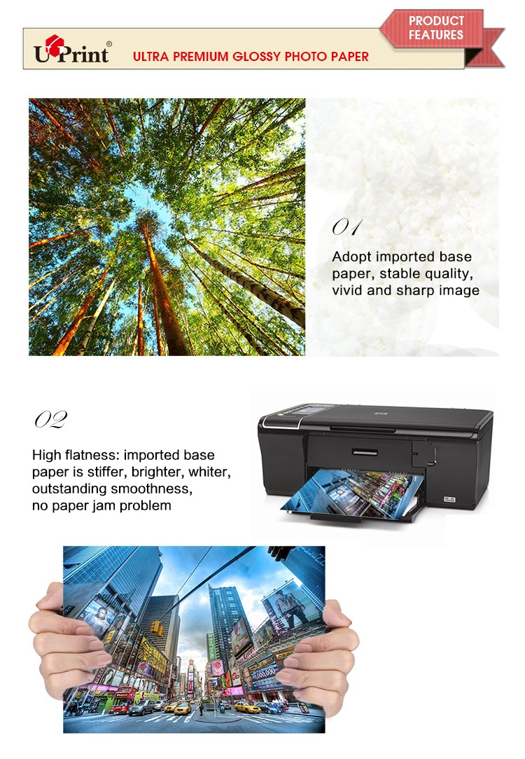 2018china manufacturer high ultra-premium glossy photo paper