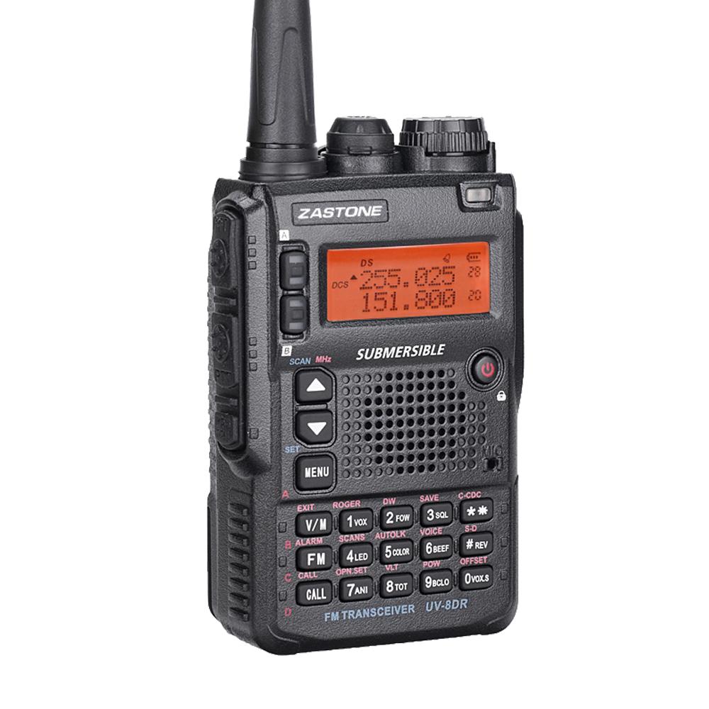 2018 NEW ZASTONE UV-8DR 5W 128ch tri band wideband long distance handy talkie two-way radio