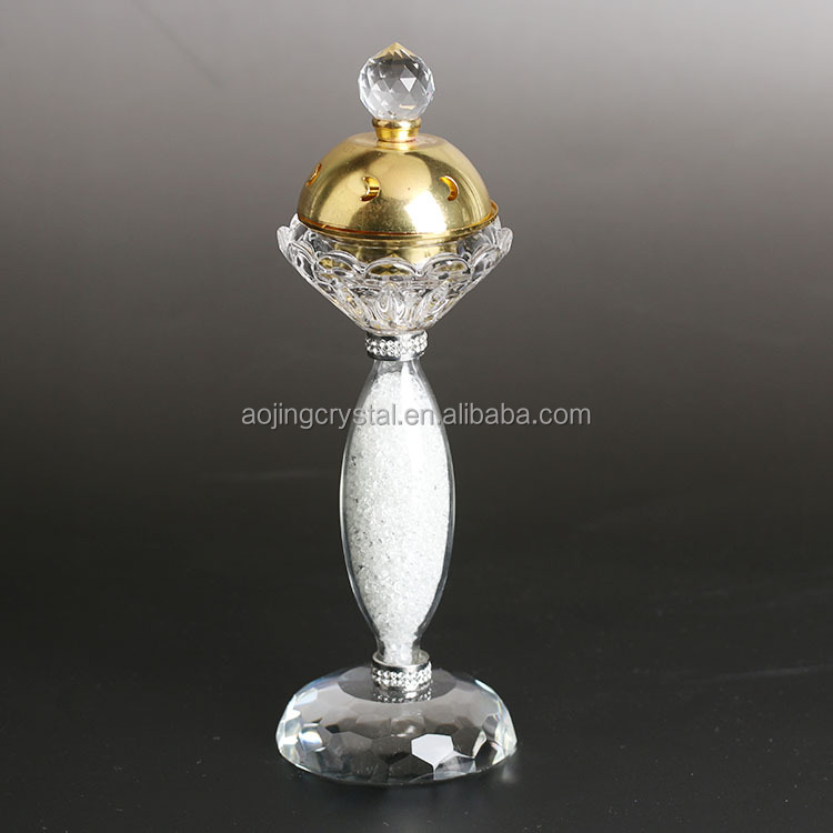 New arrival cheap price middle east crystal incense burner