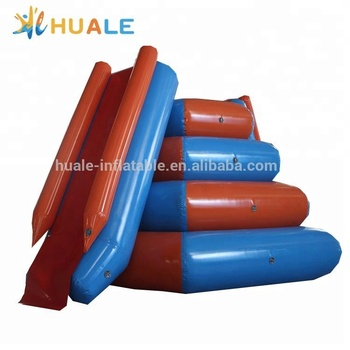 Commercial inflatable floating water slide for water park